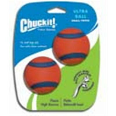 Canine Hardware 17020 orange Ultra Ball 2 pouces / 2 Pack