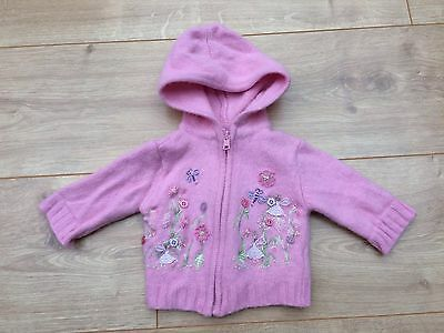 Monsoon Hooded Cardigan, Size 0-3 Months