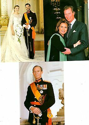 3 new GRAND DUCAL FAMILY postcards from LUXEMBOURG