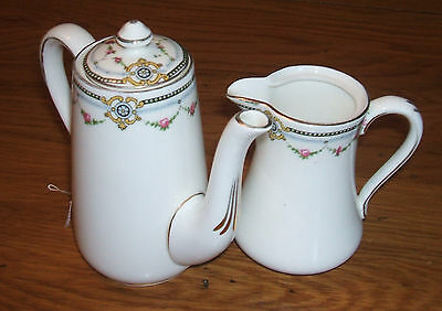 Crown Staffordshire Coffee Pot and Cream Jug
