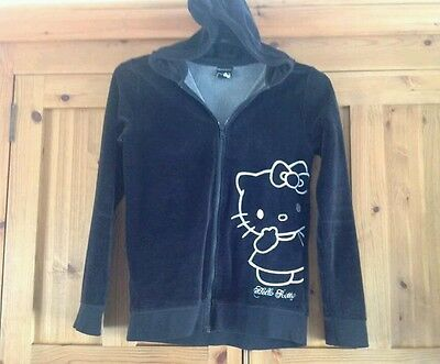 Hello kitty velvet hoody . Age 13/14