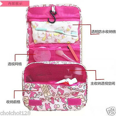 My Melody Bath Time Retro Tolietry Make Up Travel Hanging Wash Bag ML160