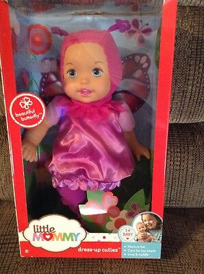 LITTLE MOMMY DRESS UP CUTIES - BUTTERFLY Doll by FISHER PRICE