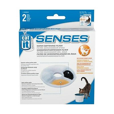 Catit Design Senses Pet Drinking Fountain Replacement Water Softening Filter 4pk
