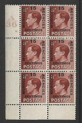 Morocco Agencies 1&½ d Red-brown Spanish Control A36 Cylinder 2 Dot Perf 2(A)M/M
