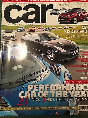 CAR Magazine/November 2008 - Performance Car Of The Year Etc.