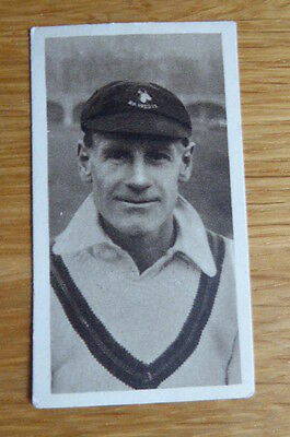Tobacco Card R & J Hill Famous Cricketers Including South African # 4 1925