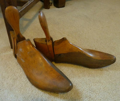 Pair of  Vintage Wooden Shoe Boot Stretchers Shoe Trees