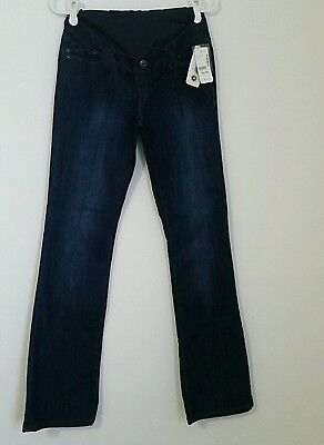 Msrp $69.00 Thyme Women's Maternity Jeans Lightweight Flared Sizes S/p And Xs/tp