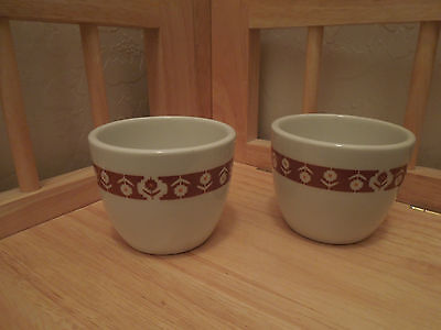 Two Vintage Grindley Holtelware England Duraline Flowers 10-85 Tiny Cups