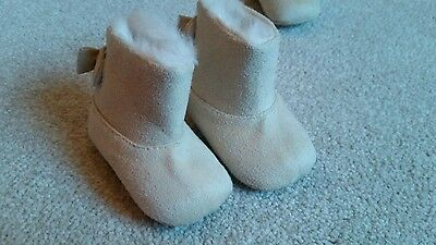 baby girl boots twins 2 pairs wool winter beige fluffy newborn small