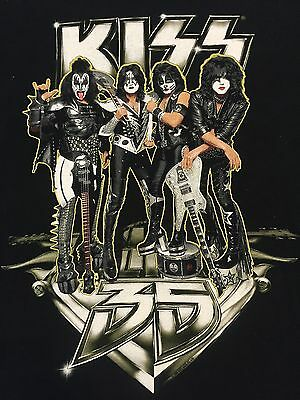 Kiss Alive 35 Concert Tour Shirt Medium Gene Simmons Paul Stanley