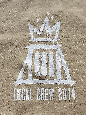Fall Out Boy Local Crew 2014 Beige XL Concert Tour Shirt