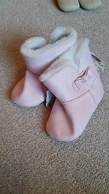 baby girl boots pink bnwt 12-18 months winter wool