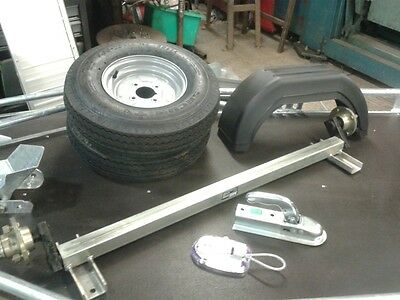 500 KG TRAILER KIT, Including Axle, Wheels, Mudguards & Tow Hitch