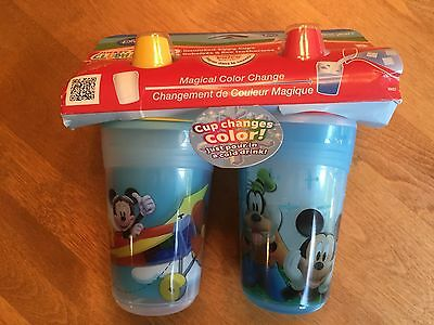 New! Disney Insulated Sippy Cups (Set of 2) BPA Free