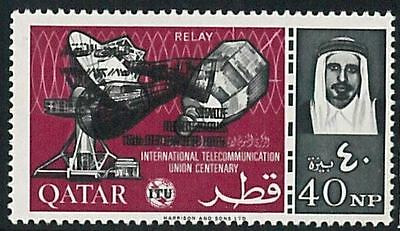57866 -  COMMUNICATIONS - QATAR - stamps: MNH stamp DOUBLE PRINT overprint  ITU