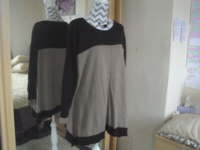 F&F Ladies Lovely Colour Block Long Knitted Jumper**Size 24