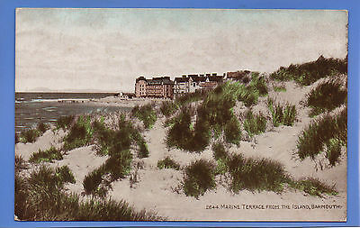 Old Vintage Postcard Marine Terrace From The Island Barmouth Merionethshire