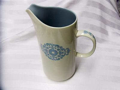 FRANCISCAN Vintage MEDALLION-BLUE 32 Oz PITCHER Excellent EAMES ERA Beautiful!