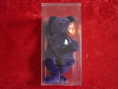 """Princess Diana Beanie Baby 1997 """"TY"""" Collectible w/ Clear Plastic Case!"""