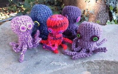 Octopus Toy, Octopus Party Favors, Finger Puppet, Stocking Stuffers