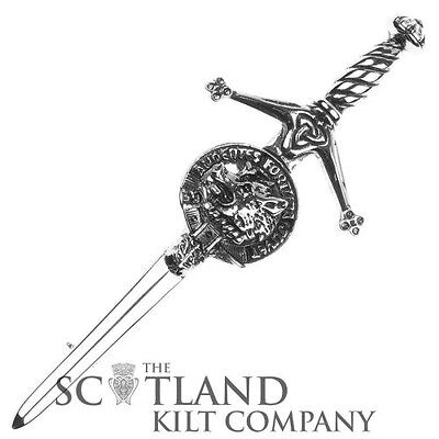 Mens Scottish Made MacKinnon Clan Crested Boxed Silver Kilt Pin by Art Pewter • EUR 20,80