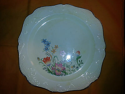 """Papoco  Square(10"""") Luncheon Plates Set Of 4 Floral Pattern"""