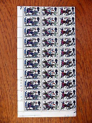 GB 1966 Battle of Hastings 4d Phosphor Complete Sheet of 120 Folded XZ129