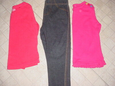 Bundle Of Girls Next Long Sleeve Tops And Leggings - Age - 2 Yrs