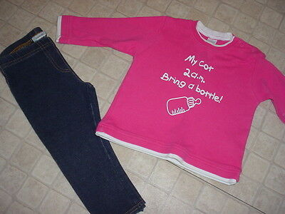Bundle Of Girls Top And Leggings - Age - 1/2 Yrs