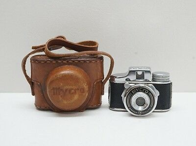 Vintage Mycro Subminiature Camera w/Leather Case - Made in Occupied Japan