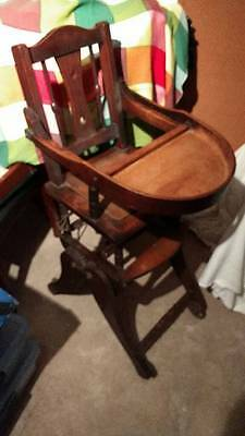Old (Victorian/Edwardian) Child's Metamorphic High Chair