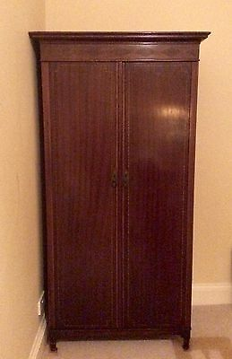 Antique Edwardian Mahogany Gentleman's Wardrobe Compactum