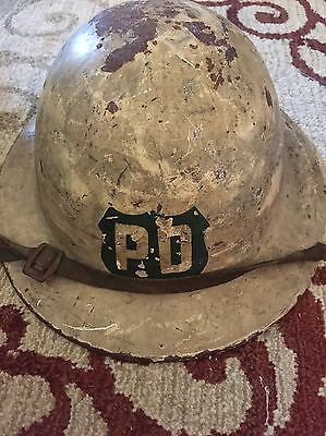 Antique NYPD Helmet.  World War One Style