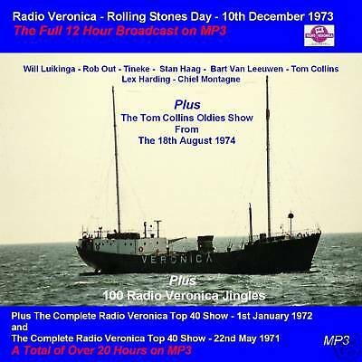 Pirate Radio Veronica Rolling Stones Day Complete on MP3 DVD Disc