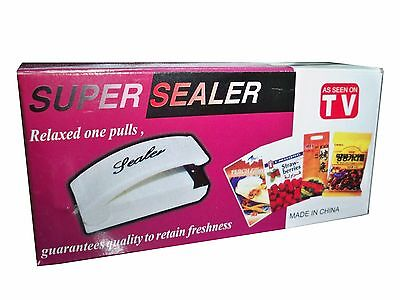 Portable Mini Heat Sealing Machine Impulse SUPER SEALER Seal Packing Plastic Bag