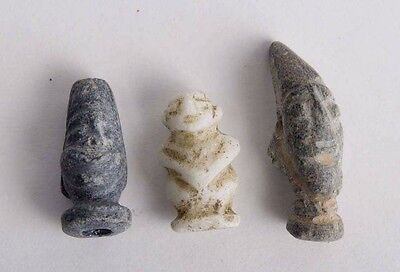Lot of 3 Ancient Near Eastern stone Amulets c.1st-3rd MILLENNIUM B.C.