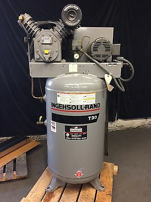 Ingersoll Rand T30 Air Compressor - 80 Gallon Capacity, 200 PSI, 5 HP