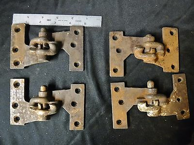 set 4 Antique Cast Iron Lift Off Shutter Hinges Left &Right #1-1/2 Lull & Porter