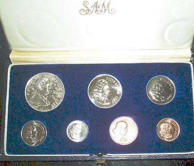 1967 South Africa Proof Set with SILVER in Original Presentation Case