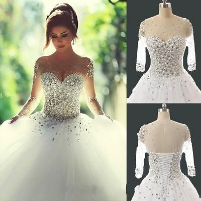 2017 New Ivory/White wedding bridal gown dress custom size 6-8-10-12-14-16+