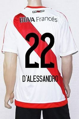 Adidas Soccer Jersey River Plate Number 22 D Aleesandro Size Large