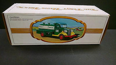 Vintage 1980 The First Hess Gas Truck Plastic Toy Truck w Box NOS new