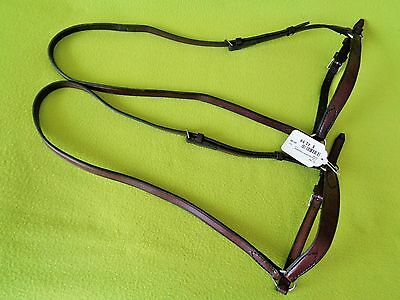 NEW w/Tag TORY Lot of (2) Drop Noseband Caveson ~1 Used English Bridle HAVANA~NR