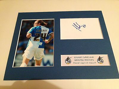 SIGNED BRISTOL ROVERS STUART SINCLAIR MOUNT Christmas Clarke Taylor Gasheads