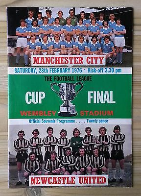 Football League Cup Final Manchester City v Newcastle United 28/2/76 Programme