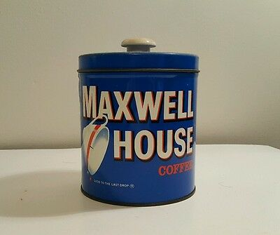 Vintage Maxwell House Coffee Collectible Tin Can