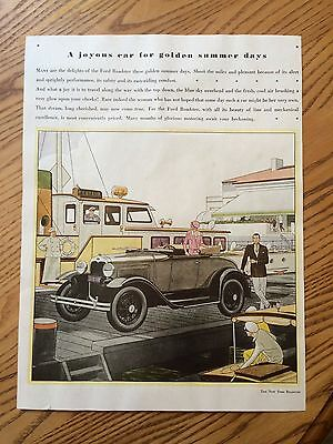 Ford Model A Roadster Ad  -  Original Magazine Ad