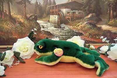 sweet STEIFF Frog Froggy 22 cm Button Flag Breasttag VGC 1968-75  2360.22